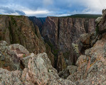 The Painted Wall under stormy skies, Black Canyon of the Gunnison National Park, Colorado