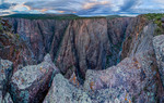 North Chasm View Wall from Chasm View Overlook, Black Canyon of the Gunnison National Park, Colorado