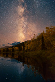The Milky Way over a beaver pond near the south Mt. Elbert trailhead in late September, San Isabel National Forest, Colorado