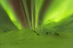 Aurora over the Cloudy Range, Tombstone Territorial Park, Yukon Territory, Canada