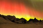 Aurora over Tombstone Mountain, Tombstone Territorial Park, Yukon Territory, Canada