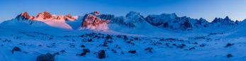 Panorama of the Tombstone Range, Tombstone Territorial Park, Yukon Territory, Canada