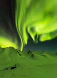 Aurora over the Cloudy Range, Tombstone Territorial Park, Yukon Territory, Canada