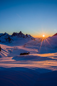 Tombstone Mountain at sunset, Tombstone Territorial Park, Yukon Territory, Canada