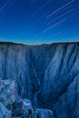 Star trails over the Narrows from Exclamation Point, Black Canyon of the Gunnison National Park, Colorado