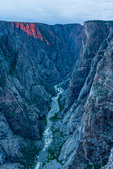 The Painted Wall at sunset from Exclamation Point, Black Canyon of the Gunnison National Park, Colorado