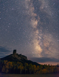 Milky Way over Chimney Rock, near Owl Creek Pass, San Juan Mountains, Colorado