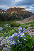 Columbine, Monitor Peak, Peak Thirteen, and Animas Mountain, Weminuche Wilderness, Colorado