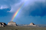 Rainbow over Pawnee Buttes, Pawnee National Grassland, Colorado