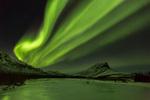 Aurora over Sukakpak Mountain and the Dietrich River, Brooks Range, near Wiseman, Alaska
