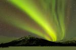 Aurora over the Brooks Range, near Wiseman, Alaska