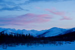The Brooks Range at sunset, near Wiseman, Alaska