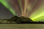 Aurora over Sukakpak Mountain and the Middle Fork of the Koyukuk River, Brooks Range, near Wiseman, Alaska