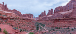 Park Avenue panorama, Arches National Park, Utah