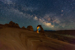 Delicate Arch and the Milky Way, Arches National Park, Utah