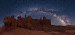 Milky Way over the Fisher Towers, Utah