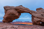 Tukuhnikivats Arch at sunset, Behind the Rocks Wilderness Study Area, near Moab, Utah