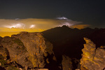 Lightning storm over Longs Peak from the Rock Cut on Trail Ridge Road, Rocky Mountain National Park, Colorado