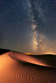 Milky Way over dunes at Great Sand Dunes National Park, Colorado