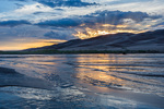 Medano Creek at sunset, Great Sand Dunes National Park, Colorado