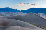 The Sangre de Cristo Range at sunrise from the summit of High Dune, Great Sand Dunes National Park, Colorado