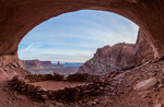 False Kiva and Candlestick Tower, Island in the Sky district, Canyonlands National Park, Utah