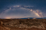 Panorama of the Milky Way over the Maze, Maze District, Canyonlands National Park, Utah