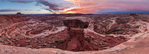 Sunrise panorama of the south fork of Horse Canyon and the Maze from Brimhall Point, Maze District, Canyonlands National Park, Utah