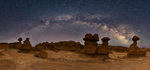 Milky Way panorama at Goblin Valley State Park, Utah