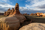 Chesler Park at sunset, Needles District, Canyonlands National Park, Utah