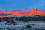 North Six Shooter at sunset, Needles District, Canyonlands National Park, Utah