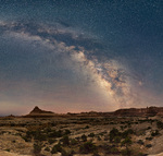Milky Way over Big Spring Canyon, Needles District, Canyonlands National Park, Utah