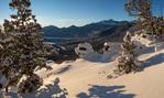 Longs Peak from Many Parks Curve after a January snowfall, Rocky Mountain National Park, Colorado