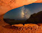 False Kiva and the Milky Way, Island in the Sky district, Canyonlands National Park, Utah