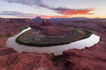 Turks Head and the Green River at sunset, Island in the Sky district, Canyonlands National Park, Utah
