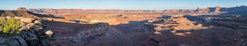 Soda Springs Basin from Murphy Hogback at sunrise, Canyonlands National Park, Utah
