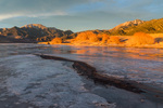 Mt. Herard and Medano Creek at sunset, Great Sand Dunes National Park, Colorado
