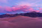 Sunrise over Cleveland Peak and Mt. Herard, Great Sand Dunes National Park, Colorado