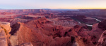 Twilight over the Colorado River from Dead Horse Point, Dead Horse Point State Park, Utah