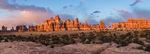 Panorama of Chesler Park at sunset, Needles District, Canyonlands National Park, Utah