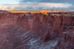 Monument Basin at sunset in December, Canyonlands National Park, Utah