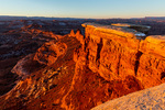 The view from White Crack at sunrise in December, Canyonlands National Park, Utah