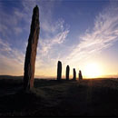 Summer Solstice sunset over the Ring of Brodgar,