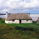 Whitewashed cottage on Uist