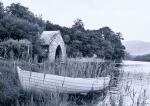 Boathouse and rowboat