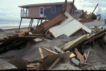 Destroyed homes in hurricane's path on the North Carolina coast