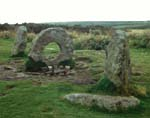 Men-an-tol stones, Cornwall, England