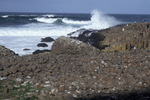 Sea lashed coastline at the Giant's Causeway