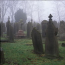 Tombstones in the fog