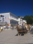 Horse drawn carriage on Mackinaw Island